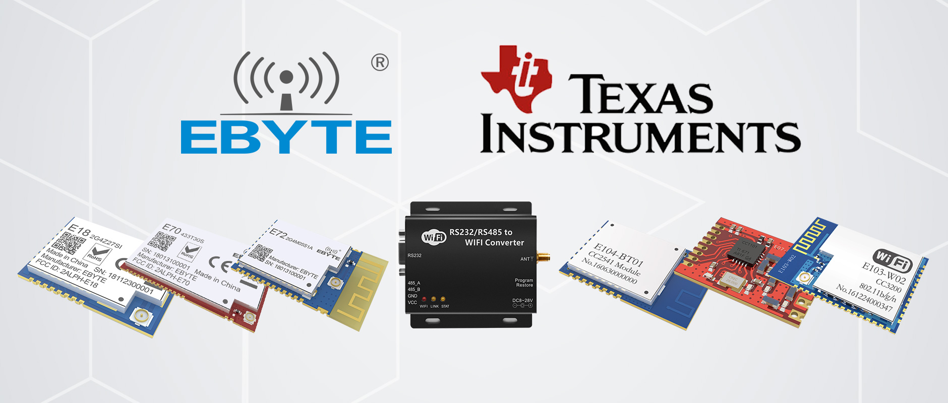 Ebyte became the third-party design partner with Texas Instruments (TI)