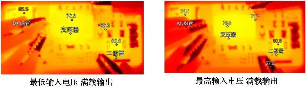 电源模块测试的表面温度